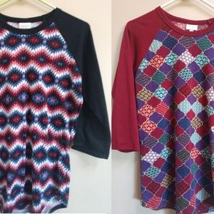 Two Small LuLaRoe Randy Shirts
